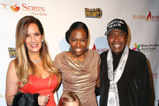 (L-R) Motivational speaker Lisa Haisha, Tige Charity, and actor Ben Vereen attend the Legacy Series Launch Party at Sofitel Hotel on November 20, 2014 in Los Angeles, California.