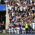 Cheikhou Kouyate Photos - Mark Noble of West Ham United celebrates scoring his side's second goal with team mates during the Premier League match between Leicester City and West Ham United at The King Power Stadium on May 5, 2018 in Leicester, England. - Leicester City vs. West Ham United - Premier League