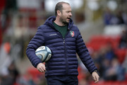 Geordan Murphy, Interim Head Coach of Leicester Tigers looks on prior to the Gallagher Premiership Rugby match between Leicester Tigers and Sale Sharks at Welford Road Stadium on September 30, 2018 in Leicester, United Kingdom.