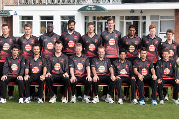 Paul Dixey Ned Eckersley Leicestershire CCC Photocall