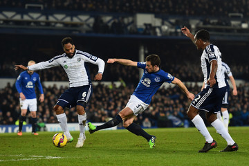 Leighton Baines Everton v West Bromwich Albion