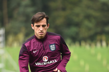 Leighton Baines England Training Session And Press Conference