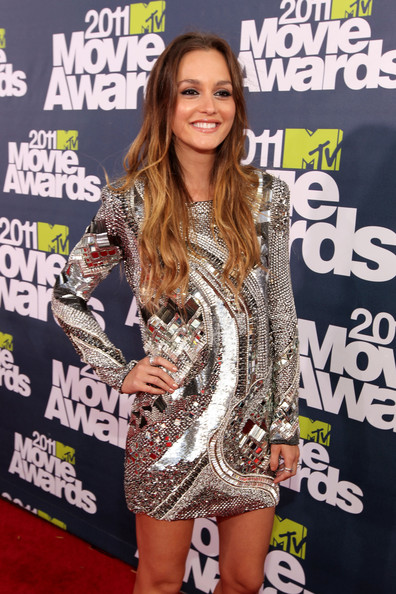 Leighton Meester - 2011 MTV Movie Awards - Red Carpet