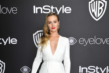 Leighton Meester The 2017 InStyle and Warner Bros. 73rd Annual Golden Globe Awards Post-Party - Red Carpet