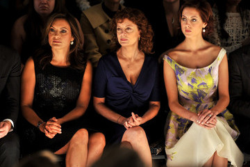 Susan Sarandon Eva Amurri Lela Rose - Front Row - Spring 2012 Mercedes-Benz Fashion Week