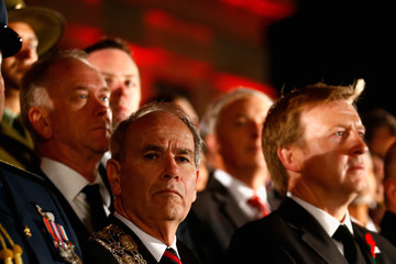 Len Brown Anzac Day Commemorated In New Zealand