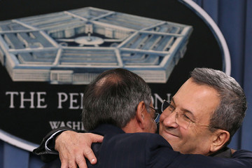 Leon E. Panetta Panetta Hosts Israeli Defense Minister Ehud Barak At The Pentagon