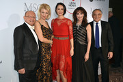 (L-R) Prof. Dr. Michael Popp, Leyla Namazova, Natalia Klitschko; Anna Maria Kaufmann and Felix Magath during the Leon Heart Foundation charity dinner at Charles hotel on November 17, 2017 in Munich, Germany.