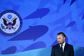 "Leonardo DiCaprio Secretary Of State John Kerry Hosts ""Our Ocean"" Conference At State Department"