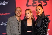 (L-R) Evan Ross, Ashlee Simpson, and Nicole Scherzinger attend Less Noise, More Music! Lucky Brand presents Third Eye Blind + Special Guest on January 23, 2020 in Los Angeles, California.