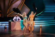 "(L-R) Benjamin Piwko, Regina Luca and Isabel Edvardsson perform on stage during the 10th show of the 12th season of the television competition ""Let's Dance"" on May 31, 2019 in Cologne, Germany."