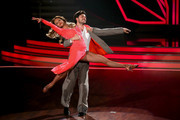 Sonja Kirchberger and Ilia Russo perform on stage during the 3rd show of the television competition 'Let's Dance' on April 1, 2016 in Cologne, Germany.