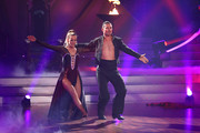 """Benjamin Piwko and Isabel Edvardsson perform on stage during the 4th show of the 12th season of the television competition """"Let's Dance"""" on April 12, 2019 in Cologne, Germany."""