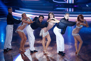 (L-R) Willi Gabalier, Tanja Szewczenko, Erich Klann, Lilly Becker, Alexander Leipolt and Oana Nechiti perform during the 5th show of 'Let's Dance' on RTL at Coloneum on May 2, 2014 in Cologne, Germany.
