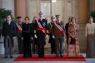 Letizia of Spain Spanish Royals Celebrate New Year's Military Parade 2018