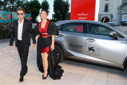 """Jean-Michel Jarre and Gong Li arrive on the red carpet ahead of the """"Lan Xin Da Ju Yuan"""" (Saturday Fiction) screening during the 76th Venice Film Festival at Sala Grande on September 04, 2019 in Venice, Italy."""
