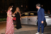 Diana Del Bufalo, Tiziana Rocca and Paolo Ruffini attend the Filming In Italy After Party Arrivals on a Lexus car during the 76th Venice Film Festival at Hotel Hungaria on September 01, 2019 in Venice, Italy.