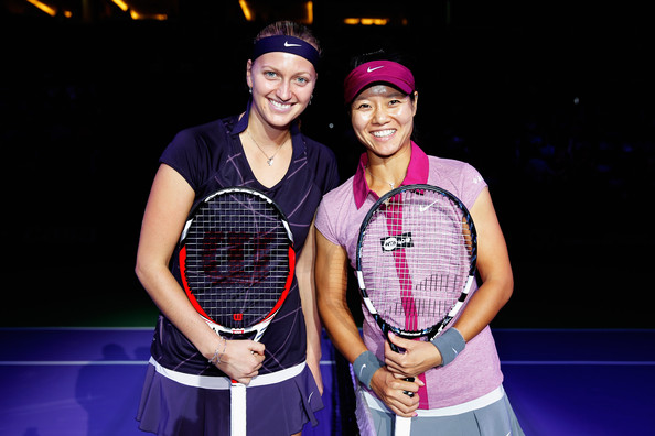 Photo of Petra Kvitova & her friend tennis player  Li Na - work