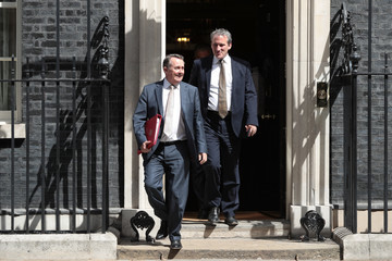 Liam Fox Cabinet Ministers Attend The Final Meeting Before The Summer Recess