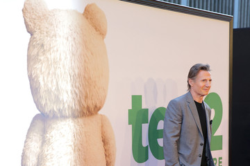 Liam Neeson Celebs Arrive at the 'Ted 2' New York Premiere