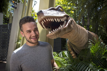 Liam Payne One Direction's Liam Payne Has a Prehistoric Encounter During His Visit to Universal Orlando Resort