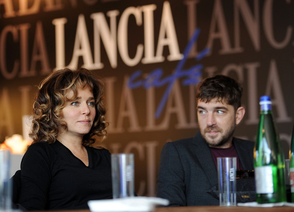 Celebrities At The Lancia Cafe - November 2, 2011 [liqueur,event,alcohol,distilled beverage,drink,valeria golino,libero de rienzo,celebrities at the lancia cafe,la kryptonite nella borsa interview at the lancia cafe during the 6th rome film festival,italy,rome]