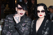 Marilyn Manson and Dita Von Teese attend the Libertine Fall 2019 Runway Show at Ebell of Los Angeles on April 26, 2019 in Los Angeles, California.