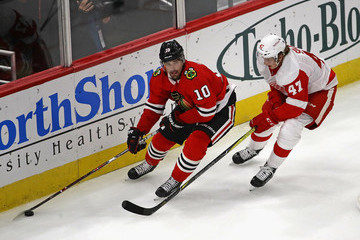 Libor Sulak Detroit Red Wings v Chicago Blackhawks