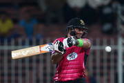 Jacques Kallis of Libra Legends bats during the Oxigen Masters Champions League match between the Libra Legends and Leo Lions on February 7, 2016 in Sharjah, United Arab Emirates.