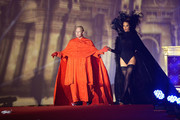 Ben Becker and Carmen Carrera are seen on stage during the Lifeball 2014  at City Hall on May 31, 2014 in Vienna, Austria.