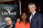 Chaz Ebert and director Steve James  attend the 'Life Itself' New York Premiere  After Party at The Film Society of Lincoln Center on June 23, 2014 in New York City.