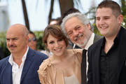 "Actors Luca Zingaretti, Isabella Ragonese, guest and Marius Ignat attend the ""Our Life"" Photocall at the Palais des Festivals during the 63rd Annual Cannes Film Festival on May 20, 2010 in Cannes, France."