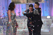 Lucy Garland is announced as the winner by Ashley Graham with Axel Vasquez during Lifetime's American Beauty Star Season 2 Live Finale at Manhattan Center on March 27, 2019 in New York City.