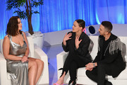 Ashley Graham, Lucy Garland and Axel Vasquez speak on stage during Lifetime's American Beauty Star Season 2 Live Finale at Manhattan Center on March 27, 2019 in New York City.