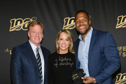"""(L-R) Michael Strahan, Jane Skinner and Keegan-Michael Key attend """"A Lifetime Of Sundays"""" New York Screening at The Paley Center for Media on September 18, 2019 in New York City."""