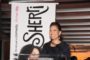 """Lifetime CEO and President Andrea Wong addresses the crowd at the Launch Party for new sitcom """"Sherri"""" at the Empire Hotel on October 5, 2009 in New York City."""