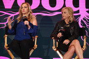 """Melissa Joan Hart and Paula Hart speak onstage for Lifetime's """"The Watcher In The Woods"""" Panel With Melissa Joan Hart And Paula Hart At New York Comic Con 2017 on October 5, 2017 in New York City."""