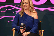 """Melissa Joan Hart speaks onstage for Lifetime's """"The Watcher In The Woods"""" Panel With Melissa Joan Hart And Paula Hart At New York Comic Con 2017 on October 5, 2017 in New York City."""