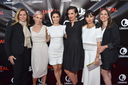 "SVP, Scripted Series & Development, Lifetime, Nina Lederman, executive producer Marti Noxon, actress Shiri Appleby, executive producer Sarah Gertrude Shapiro, actress Constance Zimmer and VP, Scripted Series & Development, Lifetime, Jennifer Breslow attend Lifetime and Us Weekly's premiere party for ""UnReal"" at SIXTY Beverly Hills on May 20, 2015 in Beverly Hills, California."