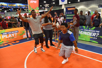 Lil' P-Nut Nickelodeon Hosts Basketball Tryouts for Kids' Choice Sports 2015 'Triple Shot Challenge'