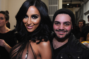 Lilly Ghalichi Michael Costello - Backstage - Mercedes-Benz Fashion Week Fall 2014