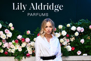 Delilah Belle Hamlin poses for a photo during the Lily Aldridge parfums launch event at The Bowery Terrace at the Bowery Hotel on September 08, 2019 in New York City.