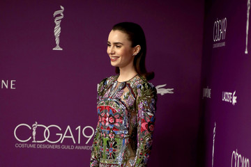 Lily Collins 19th CDGA (Costume Designers Guild Awards) - Backstage and Green Room