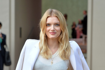 Lily Donaldson Arrivals at Burberry Prorsum