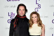 Musician Rufus Wainwright (L) and actress Natasha Lyonne attend LilySarahGrace Presents Color Outside The Lines on October 25, 2014 in New York City.