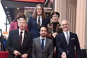 """(Back L-R) Chair of the Hollywood Chamber of Commerce Board of Directors, Donelle Dadigan, """"Weird Al"""" Yankovic and Rita Moreno (Front L-R) Leron Gubler, Lin-Manuel Miranda and LA City Councilman Mitch O'Farrell attend the ceremony honoring Lin-Manuel Miranda with a Star on the Hollywood Walk of Fame on November 30, 2018 in Hollywood, California."""