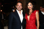 "Alessandro Del Piero and Sofia Milos attend the Lina Wertmuller ""True Italian Taste"" Gala Reception Dinner Co-Hosted By The Italy-America Chamber Of Commerce West And Italian Soccer Superstar Alessandro Del Piero At Del Piero's Los Angeles Restaurant N.10 at N.10 on October 28, 2019 in Los Angeles, California."
