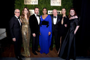 Tommy Hilfiger, Elizabeth Hurley, Tom Ford, Jennifer Hudson, Leonard A. Lauder, Carolyn Murphy, and Glenda Bailey attend the Lincoln Center Corporate Fashion Gala honoring Leonard A. Lauder at Alice Tully Hall on November 18, 2019 in New York City.