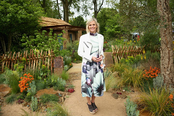 Linda Barker Sentebale 'Hope In Vunerability' Garden at the Chelsea Flower Show