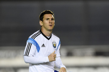 Lionel Messi Argentina Training and Press Conference: 2014 FIFA World Cup Brazil Final